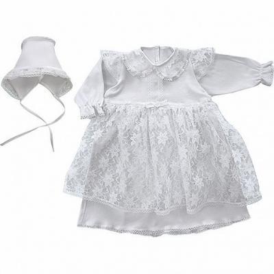 Крестильное платье и чепчик для девочки Золотой Гусь 11241