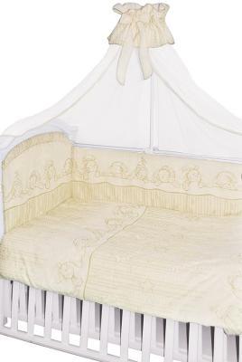 Постельный сет 7 предметов Золотой Гусь Зая-Зай (молочный) do 518магнит люблю зая
