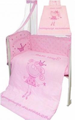 Постельный сет 7 предметов Золотой Гусь Растём весело (розовый) постельный сет 7 предметов золотой гусь мишутка розовый