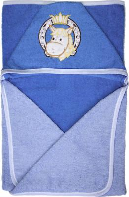 Купить Полотенце банное Золотой Гусь размер 120*100, цвет голубой, Хлопок, Для всех, Детские полотенца и халаты