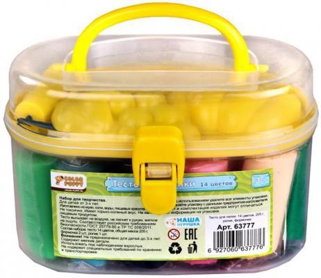Тесто для лепки: 14 цветов, 205г, ролик, формочки Color Puppy 63777