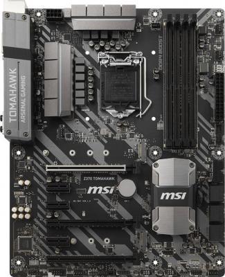 Мат. плата для ПК MSI Z370 TOMAHAWK Socket 1151 v2 Z370 4xDDR4 3xPCI-E 16x 3xPCI-E 1x 6 ATX Retail материнская плата пк msi z370 pc pro z370 pc pro