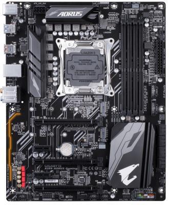 Материнская плата GigaByte X299 AORUS GAMING Socket 2066 X299 4xDDR4 3xPCI-E 16x 2xPCI-E 1x 8 ATX Retail цена