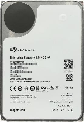 Жесткий диск 3.5 12 Tb 7200rpm Seagate Enterprise Capacity SATAIII ST12000NM0007 4000gb seagate st4000nm0035 128mb 7200rpm sata3 enterprise se