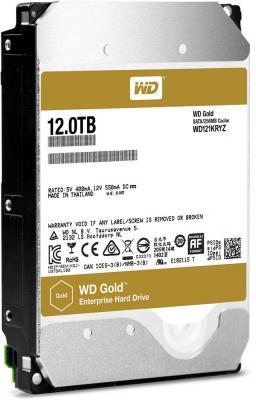Жесткий диск 3.5 12Tb 7200rpm Western Digital Gold SATAIII WD121KRYZ