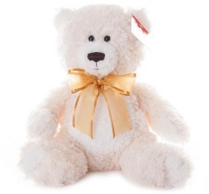 """Мягкая игрушка медведь AURORA """"Медведь"""" текстиль искусственный мех кремовый 20 см"""