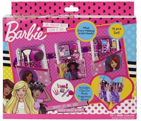 """Игровой набор детской декоративной косметики Markwins """"Barbie"""" с поясом визажиста"""