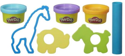 Набор для лепки PLAY-DOH Зоопарк B4159 3 цвета в ассортименте play doh игровой набор праздничный торт