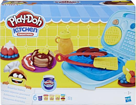Набор для лепки PLAY-DOH Сладкий завтрак 6 цветов B9739 hasbro play doh игровой набор из 3 цветов цвета в ассортименте с 2 лет