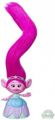 Фигурка Hasbro Hair Raising Poppy - Поопи с супер длинными поднимающимися волосами hasbro b6560 набор троллей коронация
