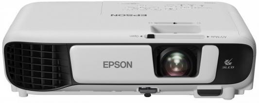 Проектор Epson EB-X41 1024x768 3600 лм 15000:1 белый черный проектор epson eb s6 пульт