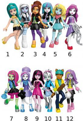 Конструктор MEGA BLOKS базовые фигурки персонажей Monster High 9 элементов мини фигурка mega bloks monster high 9 см