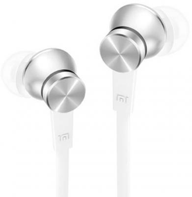 Наушники Xiaomi In-Ear Headfones Basic серебристый ZBW4355TY наушники xiaomi mi in ear headfones basic черный zbw4354ty