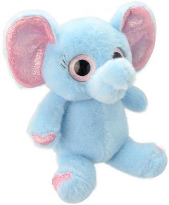 Мягкая игрушка слоненок Wild Planet Слоненок K7707 текстиль пластик голубой розовый 15 см