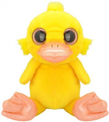 Мягкая игрушка утенок Wild Planet Утенок K7850 искусственный мех текстиль пластик желтый 15 см