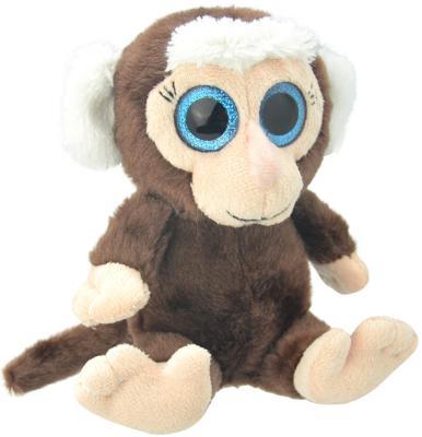 """Мягкая игрушка обезьянка Wild Planet """"Мартышка"""" искусственный мех пластик коричневый бежевый 19 см K8171"""