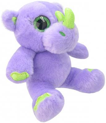 Мягкая игрушка носорог Wild Planet Носорог K8203 искусственный мех текстиль пластик сиреневый салатовый 19 см