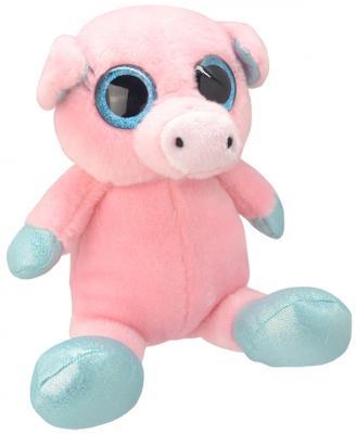 Мягкая игрушка Wild Planet Свинка искусственный мех розовый 18 см K7864