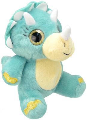 """Мягкая игрушка динозавр Wild Planet """"Трицератопс"""" искусственный мех текстиль 19 см K7866"""