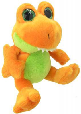 Мягкая игрушка динозавр Wild Planet Orbys - Динозавр Тирекс искусственный мех пластик оранжевый зеленый 20 см K8163