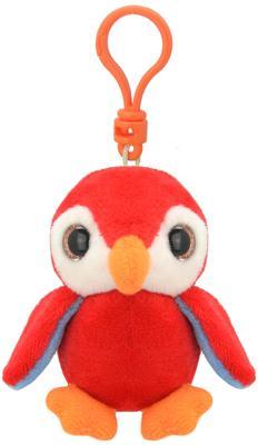"""Брелок попугай Wild Planet """"Попугай"""" искусственный мех пластик красный 9 см K8180"""