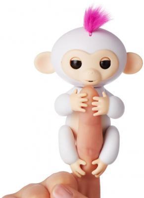 Интерактивная игрушка обезьянка WowWee Fingerlings - София пластик белый 12 см 3702A