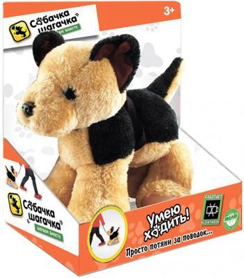 """Интерактивная мягкая игрушка собака Toy Target """"Собачка-шагачка"""" - Овчарка текстиль пластик коричневый черный 25 см"""