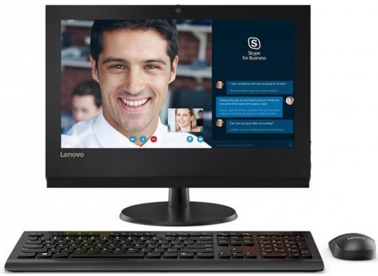 Моноблок Lenovo ThinkCentre V310Z 19.5 HD+ i5 7400/4Gb/500Gb 7.2k/HDG/DVDRW/noOS/WiFi/BT/клавиатура/мышь/Cam/черный неттоп lenovo 200 01ibw slim cel 3215u 2gb 500gb 5 4k noos wifi bt белый