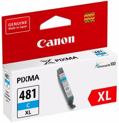 Картридж Canon CLI-481XL C для Pixma TS6140/TS8140TS/TS9140/TR7540/TR8540 голубой 2044C001 картридж canon cli 481xl для canon pixmats8140ts ts9140 1010568 голубой