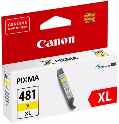 Картридж Canon CLI-481XL Y для Canon Pixma TS6140/TS8140TS/TS9140/TR7540/TR8540 желтый 2046C001 картридж canon cli 481 для canon pixma ts6140 ts8140ts ts9140 tr7540 tr8540 1010557 black