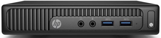 Неттоп HP 260 G2 Mini i3 6100U (2.3)/4Gb/1Tb 5.4k/HDG520/Free DOS/GbitEth/WiFi/BT/65W/клавиатура/мышь/черный 2VR73ES системный блок hp 280 g2 mt i3 6100 3 7ghz 4gb 1tb dvd rw win10pro клавиатура мышь черный w4a48es