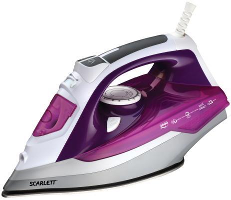 Утюг Scarlett SC-SI30P05 2400Вт фиолетовый утюг philips gc2998 80 чёрный 2400вт