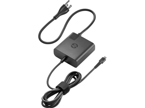 Автомобильный блок питания для ноутбука HP USB-C 65W X7W50AA блок питания для ноутбука dell power supply e5 adapter 65w usb c 450 agob