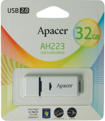 Флешка USB 32Gb Apacer Flash Drive AH223 AP32GAH223W-1 серый usb flash drive