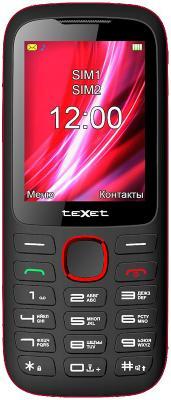 Мобильный телефон Texet TM-D228 черный красный 2.4 32 Мб