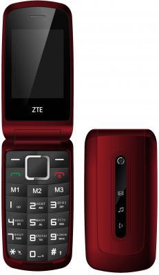 Мобильный телефон ZTE R340E темно-красный 2.4 32 Мб skinbox флип кейс zte blade x5