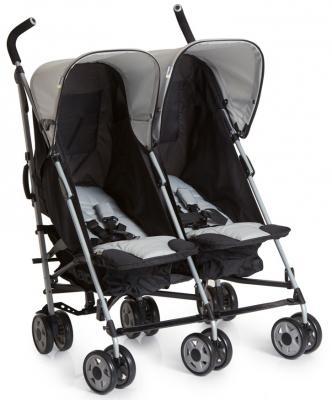 Коляска-трость для двоих детей Hauck Turbo Duo (caviar/stone) коляска трость для двоих детей hauck turbo duo caviar stone