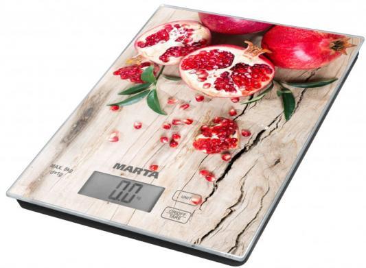 Весы кухонные Marta MT-1636 рисунок сочный гранат
