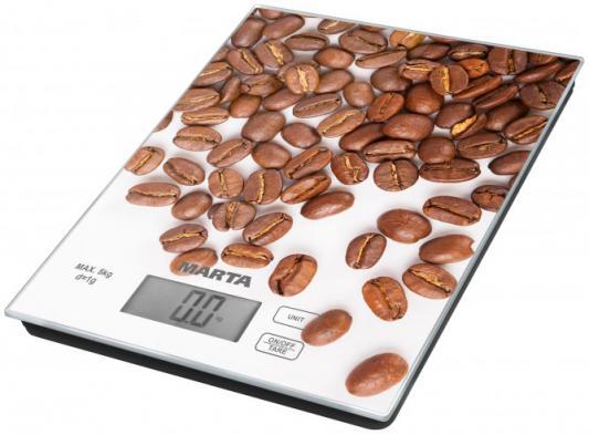 Весы кухонные Marta MT-1636 рисунок кофе весы marta mt 1679 аквамарин