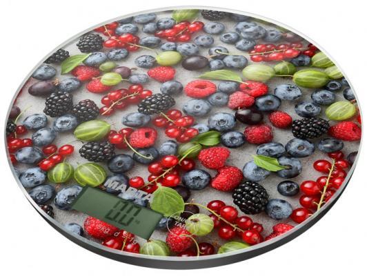Весы кухонные Marta Ягодный микс рисунок MT-1635 кухонные весы marta mt 1635 морозные ягоды