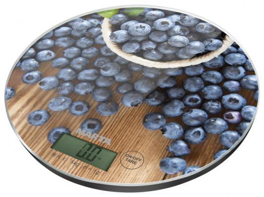 Весы кухонные Marta Черничная россыпь рисунок MT-1635 кухонные весы marta mt 1635 морозные ягоды