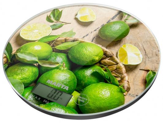 Весы кухонные Marta Цитрусовый фреш рисунок MT-1635 кухонные весы marta mt 1635 морозные ягоды