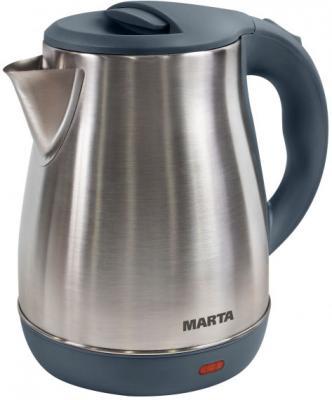 Чайник Marta MT-1091 1800 Вт серый жемчуг 2 л нержавеющая сталь чайник marta mt 3043 шоколад