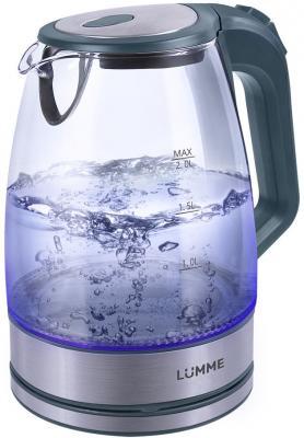 Чайник Lumme LU-139 2200 Вт серый жемчуг 2 л стекло мультиварка lumme lu 1446 black red
