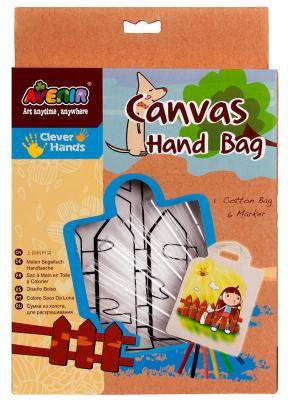 """Набор для раскрашивания сумки из холста Avenir """"Девочка"""" AL2005 от 3 лет набор для раскрашивания сумки из холста avenir"""