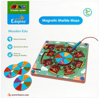 Настольная игра Avenir развивающая Деревянный лабиринт с магнитными шариками EP3048 avenir avenir развивающая игра деревянный лабиринт с магнитными шариками