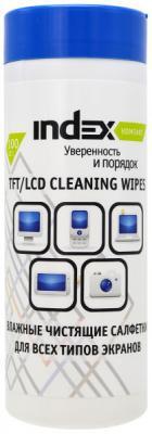 Чистящие салфетки Index ICCW01100G/R 100 шт чистящие салфетки index iccw01100g r 100 шт