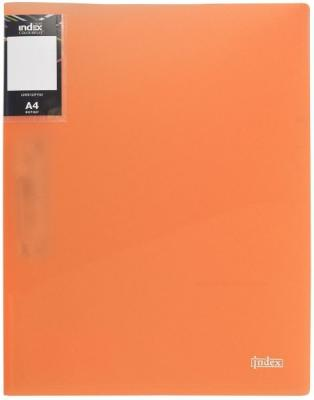 Папка с прижимным механизмом и карманом Index COLOURPLAY Light, ф.A4, 0,6мм, прозрачная, ассорти ICLC03/ASS точилка index ish001 пластик ассорти