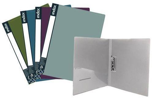 Папка с прижимным механизмом и карманом Index METALLIC, форзац, ф.A4, 0,7мм, ассорти, динамичная упаковка ICF02/10/ASS_S от 123.ru