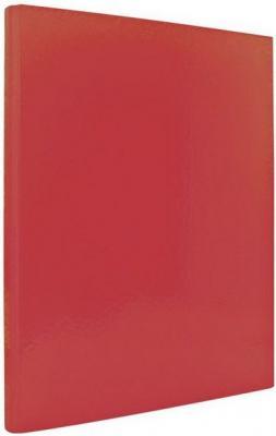 Папка с прижимным механизмом ламинированная, красная IND PR КР папка файл ламинированная на 4 кольцах красная ind 4 d30 кр
